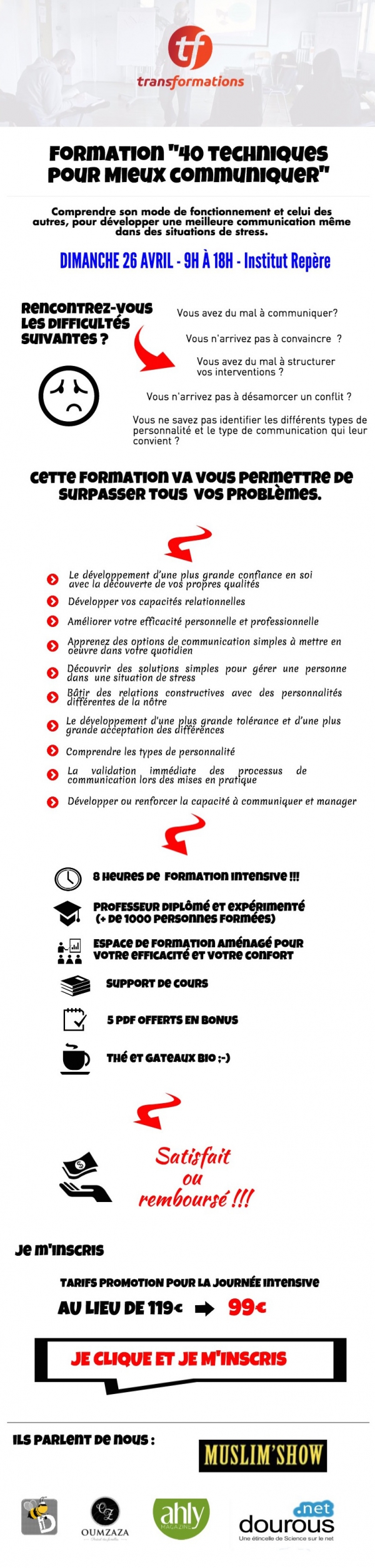 Formation le 26 avril