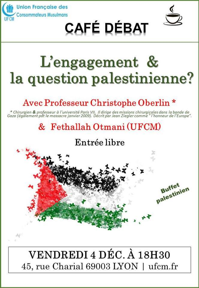 Café-débat: l'engagement & la question palestinienne?