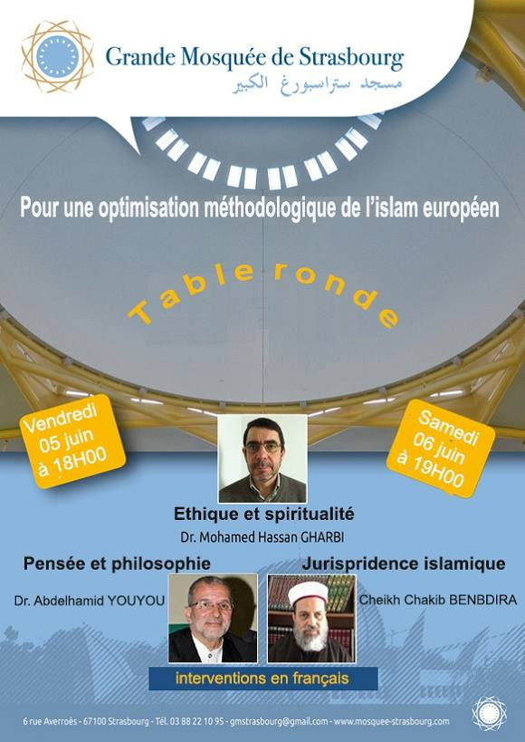 grande mosqu e de strasbourg table ronde pour une optimisation m thodologique de l 39 islam. Black Bedroom Furniture Sets. Home Design Ideas