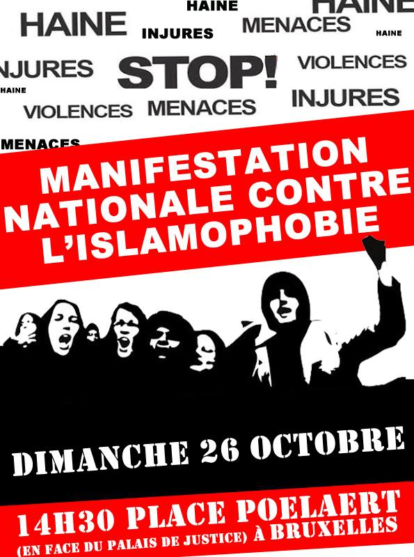 Belgique : Manifestation Nationale Contre l'Islamophobie