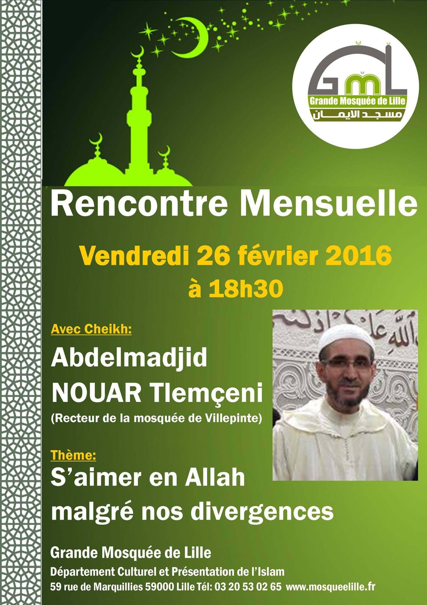 Rencontre musulman lille 2016