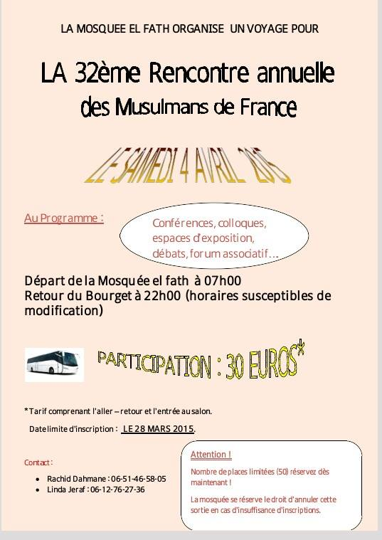 Rencontre musulman de france 2018
